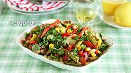 Фото рецепта Пёстрый салат с маринованными овощами