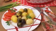 Фото рецепта Молодой картофель, запечённый с брюссельской капустой