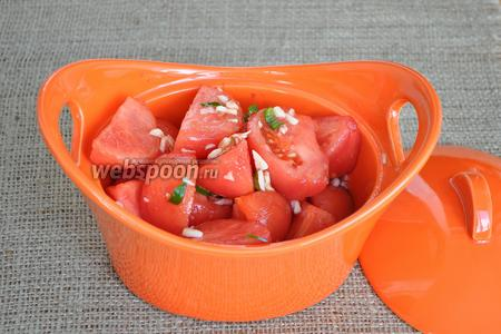 Через 2 часа помидоры готовы.