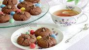 Фото рецепта Печенье «Шоколадные трещинки» без яиц