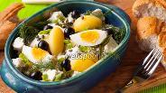 Фото рецепта Греческий картофельный салат с фетой
