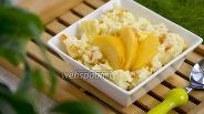 Фото рецепта Пшённая каша с персиком и курагой