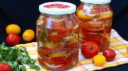 Фото рецепта Салат из помидоров с луком на зиму