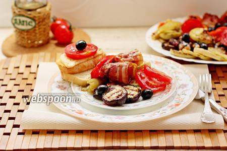 Овощи гриль с беконом