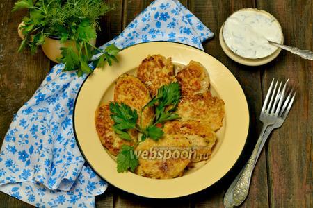 Сочные котлеты из курицы и овощей