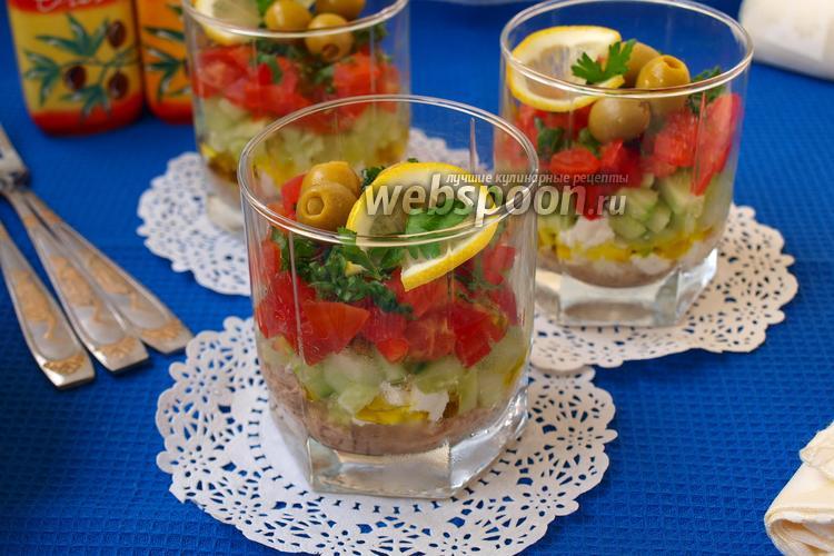 Фото Веррины с тунцом и овощами