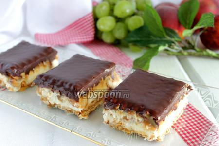 Пирожное без выпечки «Сникерс»