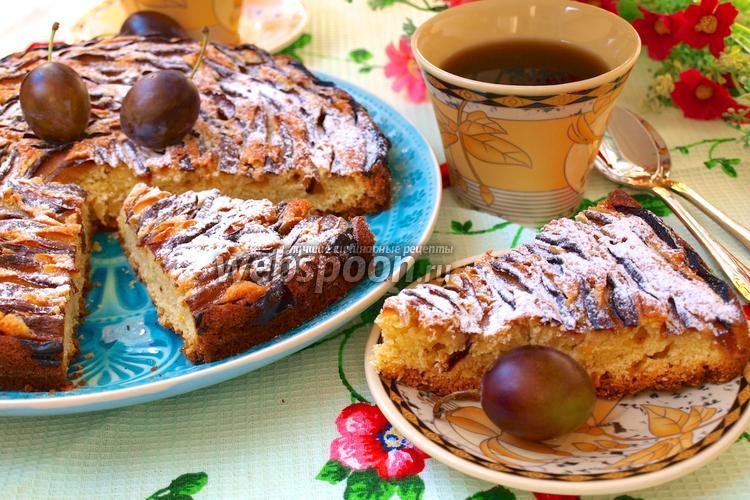 Фото Простой сливовый пирог