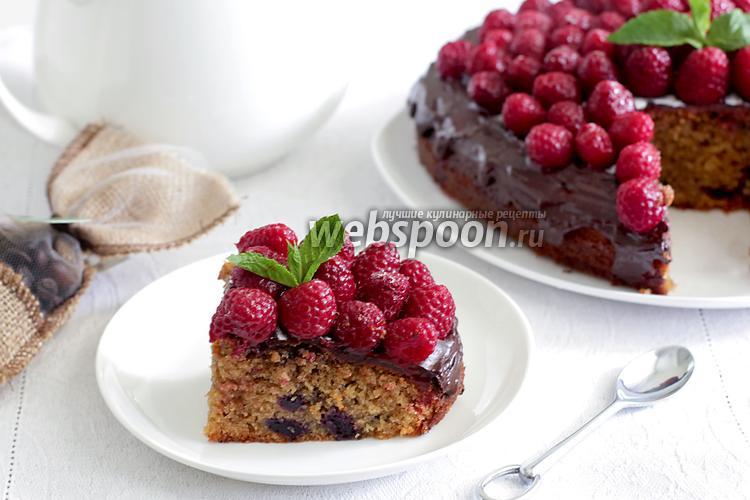 Фото Кофейный пирог с черникой и малиной