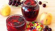 Фото рецепта Варенье из персиков и вишни