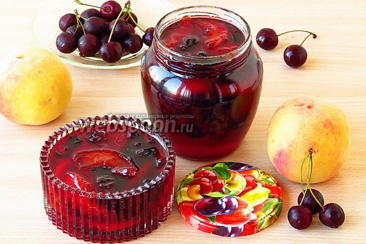 Фото Варенье из персиков и вишни