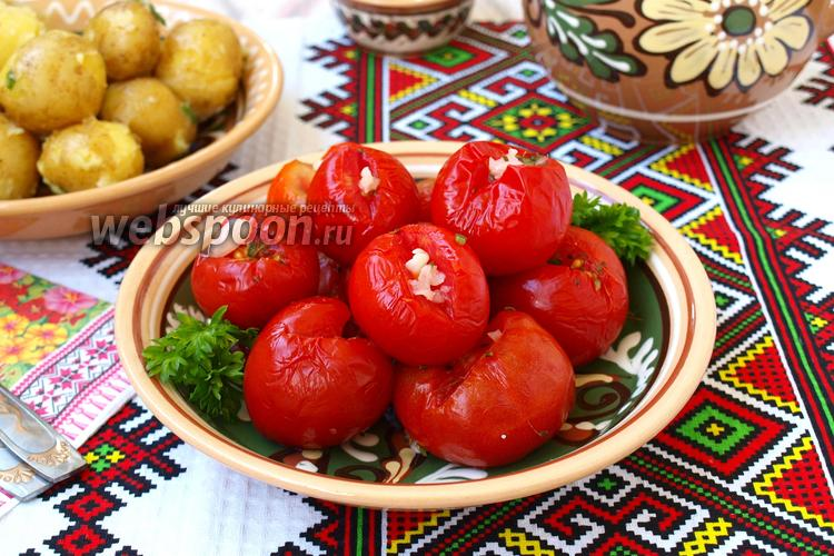 Фото Малосольные помидоры быстрого приготовления в пакете