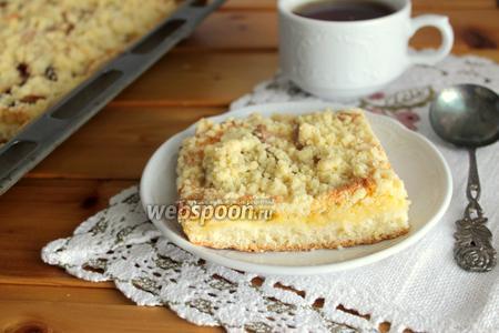 Сливово-грушевый пирог