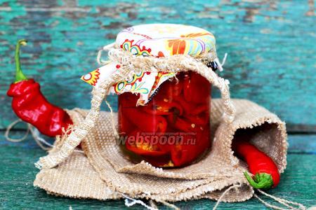 Фото рецепта Острый перец медовый