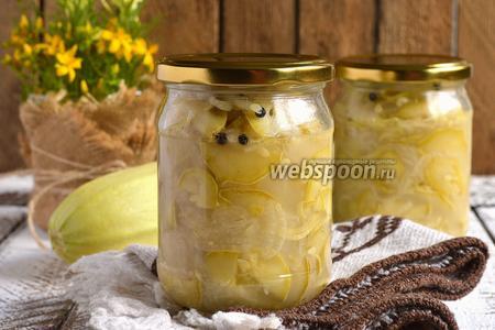 Луково-кабачковый салат на зиму