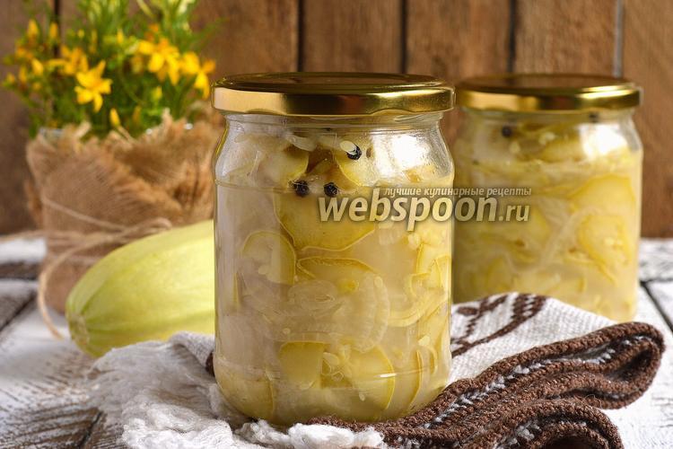 Фото Луково-кабачковый салат на зиму