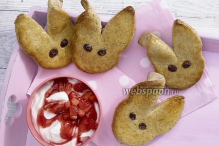 Печенье «Зайчата» с фруктово-творожным кремом