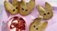 Фото рецепта Печенье «Зайчата» с фруктово-творожным кремом