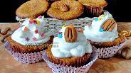 Фото рецепта Кексы с орехами пекан