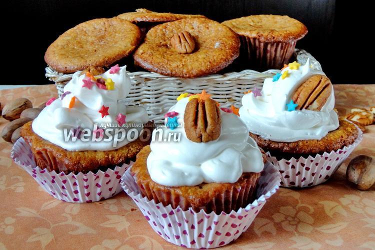 Фото Кексы с орехами пекан