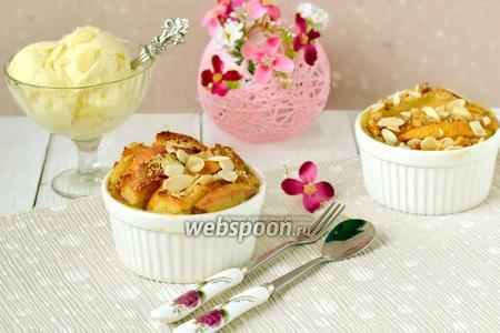Гратен «Французские тосты с персиками»