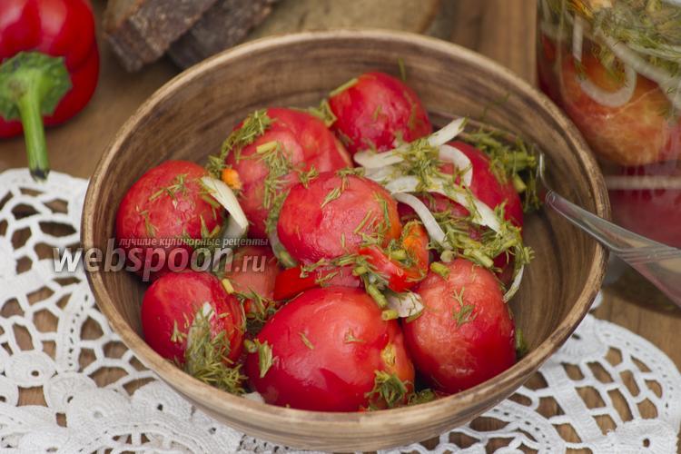 Фото Помидоры маринованные без шкурки