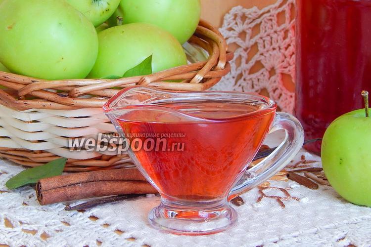 Фото Яблочный сироп с корицей и ванилью