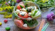 Фото рецепта Салат из арбуза и огурца