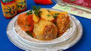 Фото рецепта Фаршированный перец приготовленный с картофелем