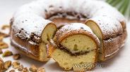 Фото рецепта Кекс с орехово-коричной прослойкой