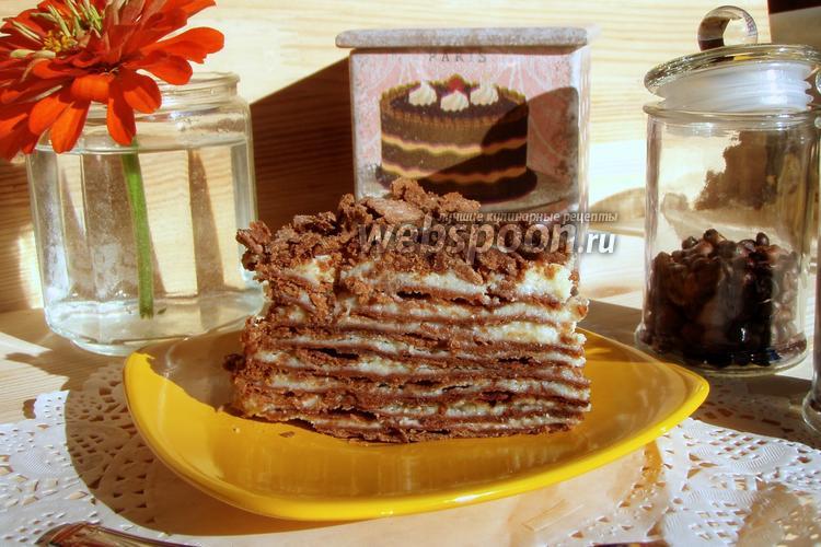 Фото «Наполеон» шоколадный