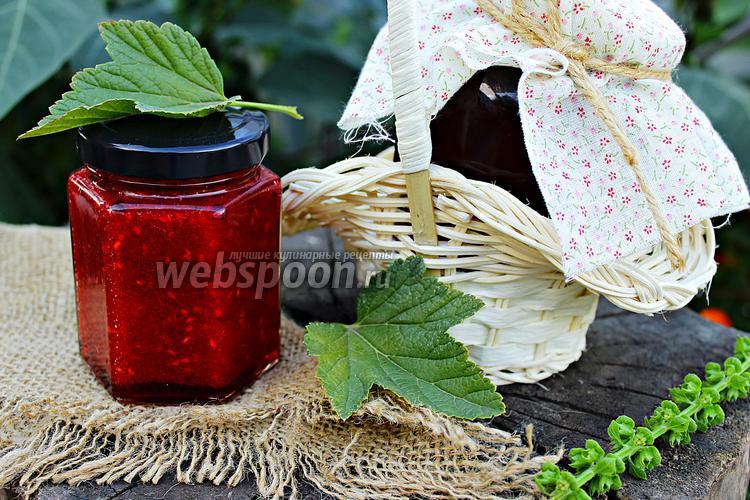 Фото «Живое варенье» малина и красная смородина