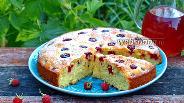 Фото рецепта Сметанный пирог с малиной