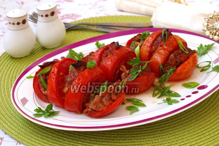 Фото Запечённые помидоры «Гармошка»