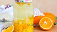 Фото рецепта Компот из кабачков с апельсином на зиму