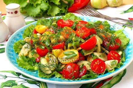 Летний овощной салат с физалисом