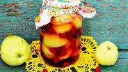 Фото рецепта Компот из яблок и кизила