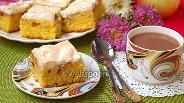 Фото рецепта Яблочный пирог с меренгой