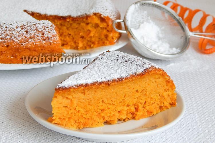Фото Морковный бисквитный пирог в мультиварке