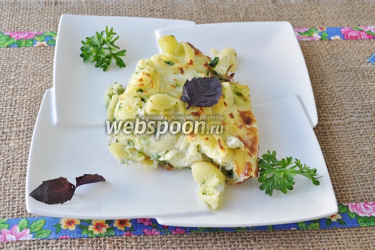 Фото Фриттата с макаронами и шпинатом