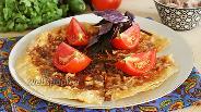 Фото рецепта Пирог из лаваша на сковороде