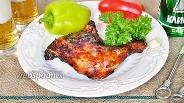 Фото рецепта Окорок в маринаде с халапеньо, зернистой горчицей и можжевельником