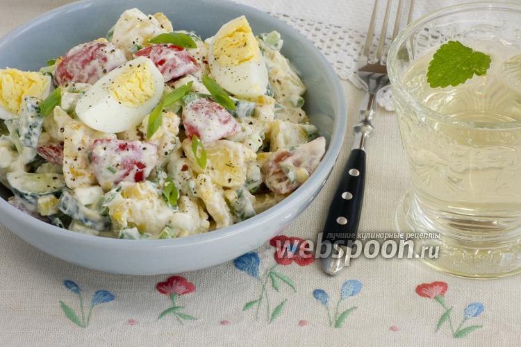 Фото Летний салат с кукурузой
