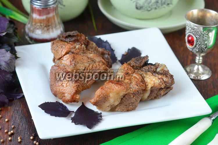 Фото Свиные рёбрышки на минералке с базиликом