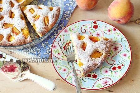 Пирог «Летнее настроение» с персиками