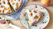 Фото рецепта Пирог «Летнее настроение» с персиками