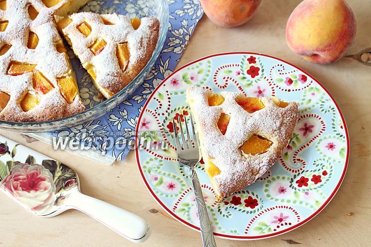 Фото Пирог «Летнее настроение» с персиками