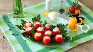 Фото рецепта Томаты черри с базиликовым кремом