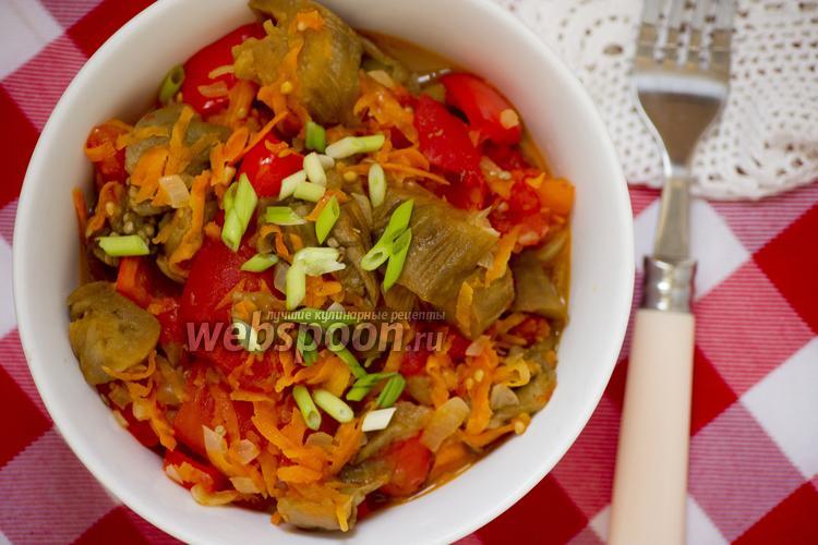 Фото Соте из печёных овощей