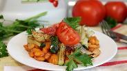 Фото рецепта Тёплый салат с кабачком и фасолью